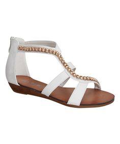 Link White Rebel Sandal by Link #zulily #zulilyfinds