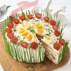 Frischkäse-Lachs-Torte