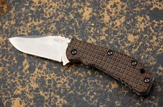 ZT550 micarta scale with frag pattern