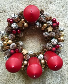 Advent wreath # xmas time #homemade decoration