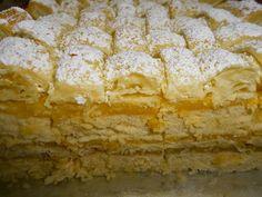 Receitas de Portugal: Bolo com Massa Folhada Portuguese Desserts, Portuguese Recipes, Pasta Filo, Apple Pie, Coco, Sweet Recipes, Deserts, Bread, Baking