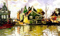 Claude Monet, Canal a Zaandam, Pays-Bas