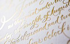 Foil stamped invitations | Bella Figura;