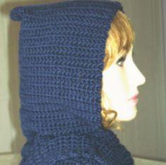 FREE crochet pattern for a Crochet Bernat Satin Hooded Scarf. Crochet Patterns For Beginners, Easy Crochet Patterns, Knitting Patterns Free, Crochet Stitches, Crochet Ideas, Free Pattern, Crochet Projects, Tutorial Crochet, Crochet Designs