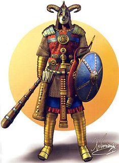 Sassanian Persian Cataphract Cavalryman Ram Unit Special Forces