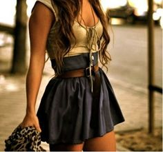 love the high waisted skirts!