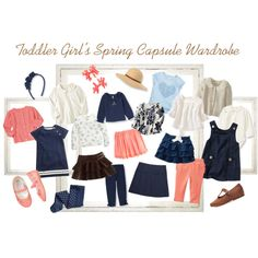 Toddler Girl's Spring Capsule Wardrobe by thoughtsandthimbles on Polyvore featuring H&M, Gap, Old Navy, Benetton, Ralph Lauren, Zara, Hatley and J.Crew