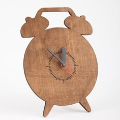 unique wood clock | clock shows design kept simple is beautiful. This understated wooden ...