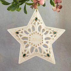 www.lenox.com  Item #: 845858H  Shimmering Star Ornament by Lenox