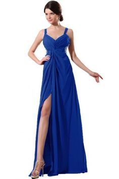 Sunvary Sexy Back Open Chiffon Evening Dress for Prom Formal Dress Long- US Size 10- Royal Blue This dress is Made-To-Order. In order to make the most suitable dress, please measure yourself as the how to measure Image, use the Size Chart Image on the left and send us your height without shoes and with shoes. We will contact you to confirm the measurements details. If no reply from you, we will ... #Sunvary #Apparel