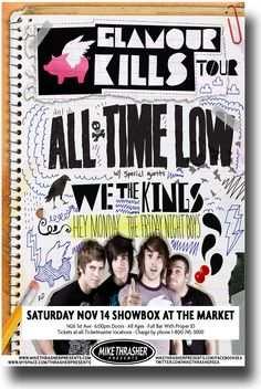 All Time Low Poster Concert $9.84