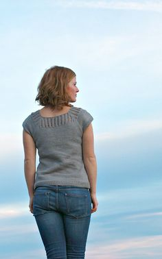 Gemini pattern by Jane Richmond.  A great warm weather knit.  Recommended yarns: Cascade Ultra Pima.