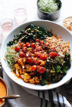 Vegetarian Dinners, Vegetarian Recipes, Healthy Recipes, Healthy Dinners, Healthy Grains, Healthy Eating, Healthy Food, Vegan Food, Healthy Skin