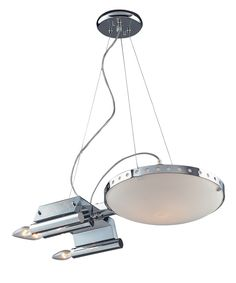 """Know someone who eats, sleeps and drinks """"Star Wars"""" or """"Star Trek?"""" Check out this light...Starship by Elk Lighting. Available at Kitchen & Lighting Designs."""