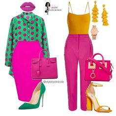 Color blocking is life. another fashion board in 2019 летняя Fashion Mode, Work Fashion, Curvy Fashion, Fashion Looks, Fashion Outfits, Womens Fashion, Fashion Trends, Fashion Ideas, Color Blocking Outfits