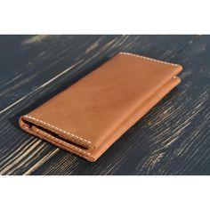 Стильное портмоне ручной работы из натуральной коричневой кожи класса люкс  в подарок. Изделие складывается пополам 1cc4e0dfccb