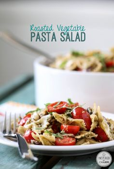 Roasted Vegetable Pasta Salad - Great as a side or a summer time summer!