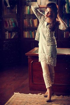 Pakistani Couture..I like the rustic feel of the photo
