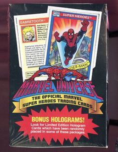 1990 marvel universe #comics #super heroes card set wax pack box hologram #insert,  View more on the LINK: 	http://www.zeppy.io/product/gb/2/121668136240/