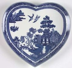 Blue Willow heart tray--just in time for Valentine's Day!