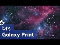 How to Make Galaxy Print - YouTube
