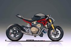 A Panigale-Powerd Ducati Monster Looks Really Good