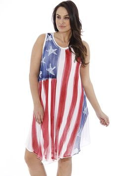 f030cd1e2 Sun Plus Size Summer Dresses Swimsuit Cover up Flag Dresses