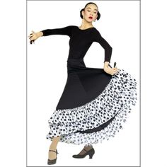 Dotted Ruffle Flamenco skirt by On Stage : 9100-PDR, On Stage Dancewear, Capezio Authorized Dealer.