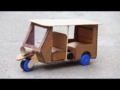 How to Make a Powered Richshaw (Tuk Tuk) - Electric Rickshaw Battery - YouTube