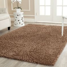 Shaggy Brown Area Rug