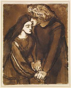 Two Lovers, Dante Gabriel Rossetti