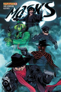 Dynamite® Masks #1 (of 8)   Ardian Syaf   e Shadow, the Green Hornet, Kato, the Spider and more in a story that only Dynamite could tell! For the first time EVER, these masked vigilantes are joining together in on EPIC series! It's 1938, and the Justice Party has swept into office in New York State. But the newly-elected officials are in the control of powerful criminals, who quickly corrupt the law to their own advantage. …