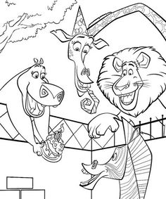 44 best Coloring Pages (Madagascar) images on Pinterest | Coloring ...