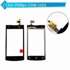[ $104 OFF ] For Philips S308 S301 Touch Screen Digitizer Glass With Logo