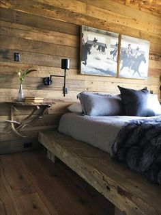 Rustic Bedroom Style, Rustic Minimalist Bedroom, Rustic Bedroom Modern Bedroom Decor Do you think he or she is gonna like it? Scandinavian Bedroom Decor, Home Decor Bedroom, Modern Bedroom, Bedroom Furniture, Furniture Design, Bedroom Ideas, Minimalist Bedroom, Bedroom Lamps, Wall Lamps