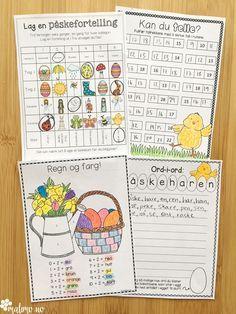 Oppgaver i norsk, matematikk og KRLE knyttet til påske Holidays And Events, Bullet Journal, Easter, Activities, Education, Montessori, Blog, Fun, Crafts