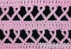 DIY Free Pattern Crochet Pink Ribbon Awareness Breast Cancer Blanket Afghan Throw with YouTube Video by Naztazia