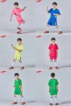 [Visit to Buy] High quality child soccer jerseys 2016 2017 kids soccer set boys custom football jersey uniforms kids youth new  #Advertisement