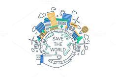 Save the World Illustration. Travel Infographics. $5.00