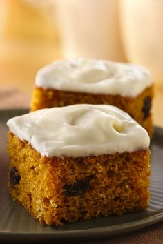 Make classic pumpkin bars with the help of Bisquick mix and canned pumpkin and then smother them with buttery cream cheese frosting.
