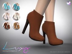Sims 4 CC's - The Best: Eris Boots Recolors by LuxySims