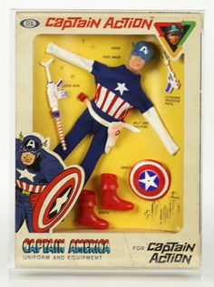 1966 Ideal Captain Action Captain America Action Figure (MIB)