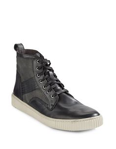 Brands | Men's Shoes | Leather and Canvas Hi-Top Boots | Hudson's Bay