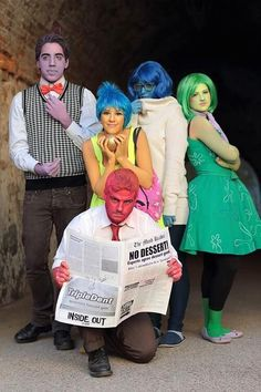 Fear, Joy, Sadness, Disgust & Anger (Cosplay by Unknown) #InsideOut