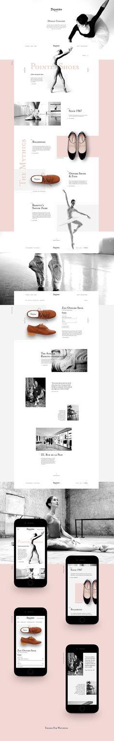 Design concept for Repetto Paris.