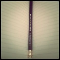 """""""My pencil has its own barcode. So dope.""""    Thanks for the sweet photo of your pencil from the STMT X England Kit, Reneee!"""