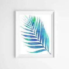 Palm Leave Print Wall Art Watercolor Giclee Canvas Art Prints - Nautical Art Beach Decor Coastal Decor Botanical Print Set - Poster (5.00 USD) by MyDreamWall