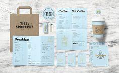 Till & Sprocket Menu by Will Gardner / lovely color selection