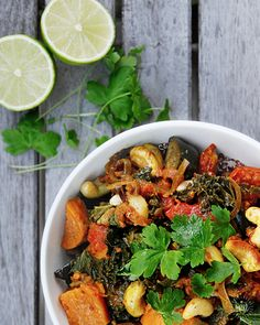 """This humble, hearty Sweet Potato & Kale Curry dish ticks all of my """"ideal"""" boxes. A pleasant kick of heat and fragrant spice combined with a vibrant assortment of plant-based goodies (including…"""