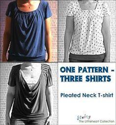 1 Schnitt 3 Shirts kostenloses Schnittmuster in M
